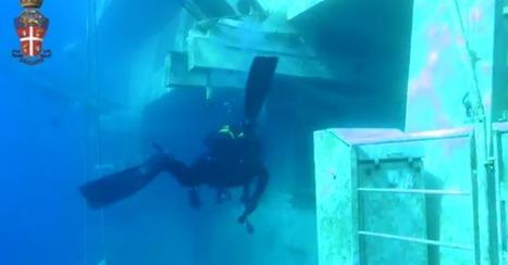 Police Release Eerie Underwater Footage of Costa Concordia   HFT3770 class scoop   Scoop.it