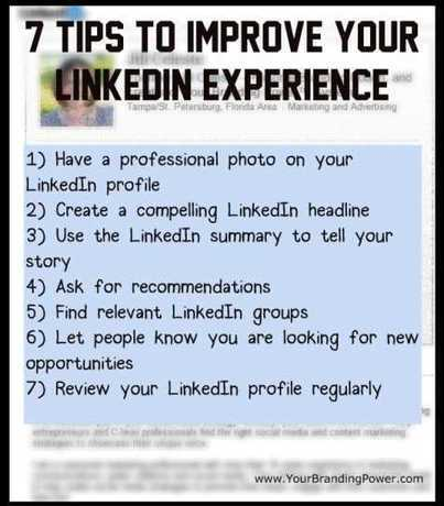 7 Tips To Improve Your LinkedIn Experience   Marketing Sales and RRHH   Scoop.it