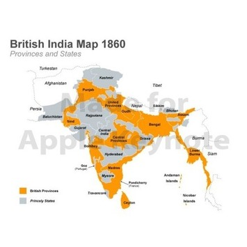 British India Map for Keynote Presentations | MAPS  Ideas, Examples, Resources | Scoop.it