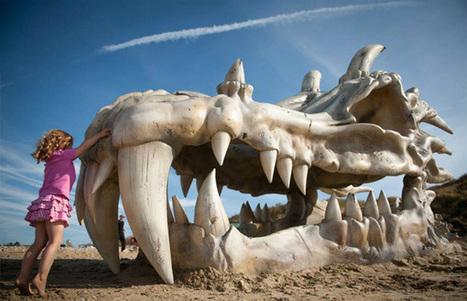 Game of Thrones : Un crane de Dragon géant installé sur une plage | STR33T Marketing | Scoop.it