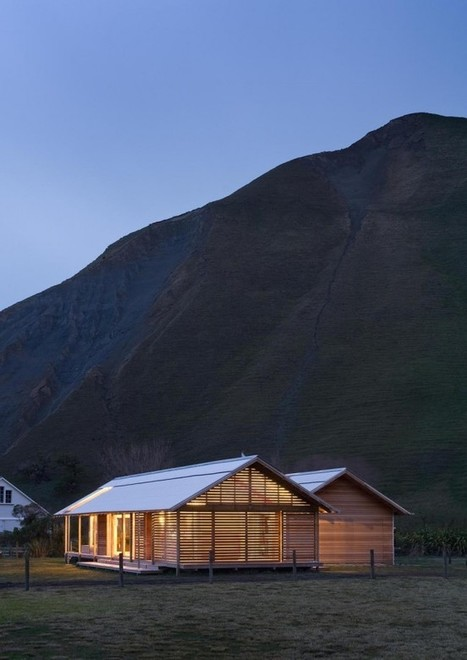 Rugged, Sustainable Architecture at Shoal Bay, New Zealand | PROYECTO ESPACIOS | Scoop.it