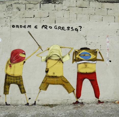 Os Gémeos, 'Order + Progress?', Brazil - unurth   street art   World of Street & Outdoor Arts   Scoop.it