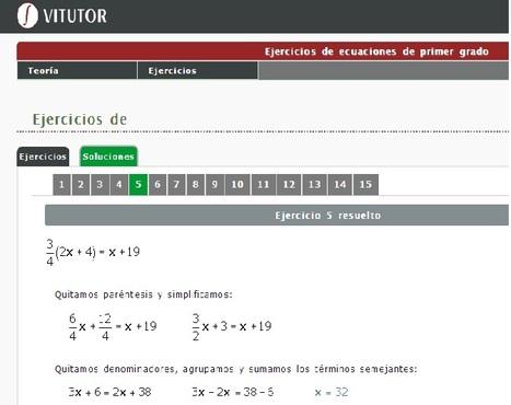 Ecuaciones de Primer Grado | Álgebra | Scoop.it