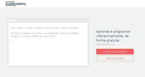 Nuevo diseño en Codecademy, para aprender a programar gratis   PENSANDO Y EDUCANDO EN TIC   Scoop.it
