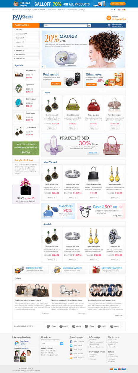 Pav CityMart, Opencart Responsive Women Shop Theme | Premium Download | open cart template | Scoop.it