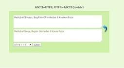 ASCII to UTF Converter - PHP Converter | metinsarac.net | Kişisel Blog | Scoop.it