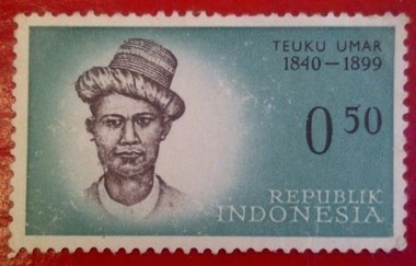 Teuku Umar, 1840-1899 : The Legend of Indonesian Heroes Stamp Series | RedGage | Stamp Collection | Scoop.it