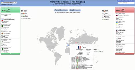 Mappemonde : une carte dévoile les décès et les naissances en temps réel   great buzzness   Scoop.it