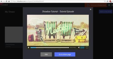 Cómo crear vídeos desde el navegador con Showbox | Experiencias educativas en las aulas del siglo XXI | Scoop.it