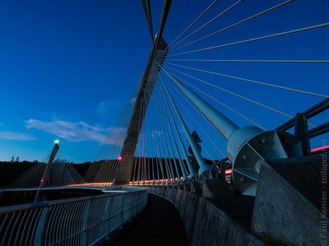 balade photo en Finistère, Bretagne et...: crépuscule sur le pont de Térénez (6 photos) | photo en Bretagne - Finistère | Scoop.it