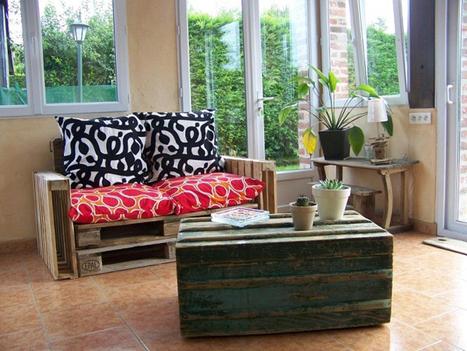 Un canapé à base de palettes recyclées !   Palettes   Scoop.it