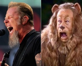 James Hetfield + the Coawardly Lion – Celeb Look-Alikes | #classicrock | Scoop.it