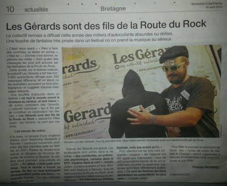 Fils de La Route du Rock | OUEST-FRANCE | Les Gérards | Scoop.it