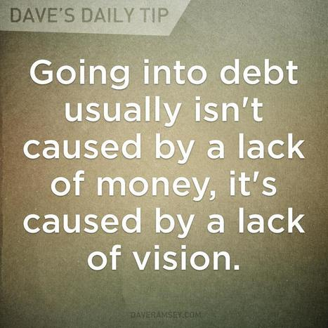 Twitter / ramseyshow: Going into debt usually isn't ... | Uber (Ultimate) Steward | Scoop.it