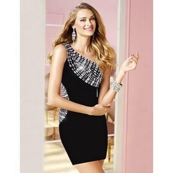 One shoulder Crystal black Bandage dress | Bandage dresses | Scoop.it