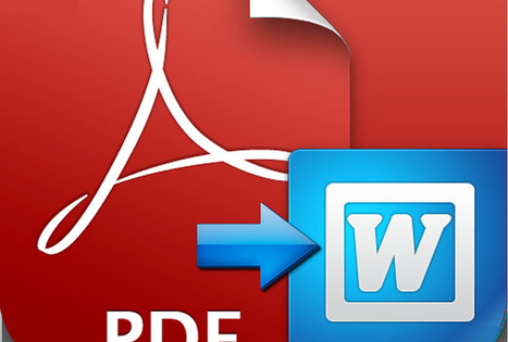 Make PDF editable by converting PDF File to Word | PDF Converter | Scoop.it