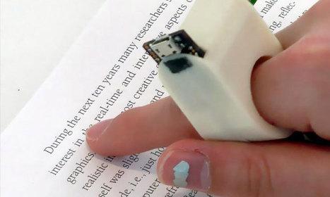 Des chercheurs rendent la lecture plus accessible aux malvoyants grâce à une bague qui lit les textes à haute voix   assistances informatiques   Scoop.it