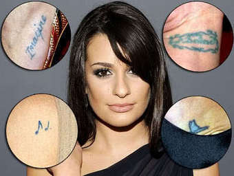 Laser Tattoo Removal — Lea Michele is one of the sweetest faces you can... | Business | Scoop.it
