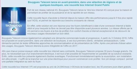 BouyguesTel teste actuellement une box 4G pour le très haut débit fixe | Ma RP | Scoop.it