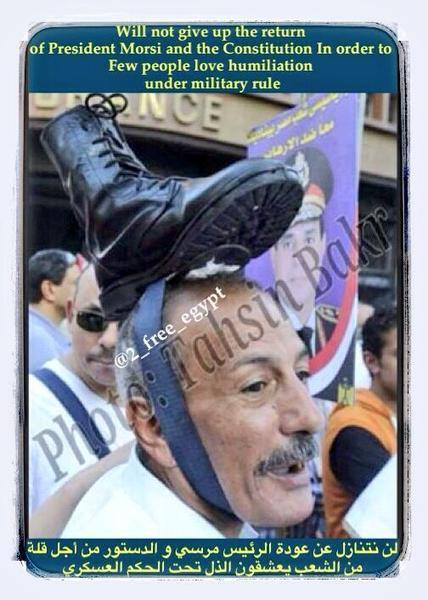 Twitter / 2_free_egypt: ⚠ know humiliation lover ... | military coup in egypt | Scoop.it
