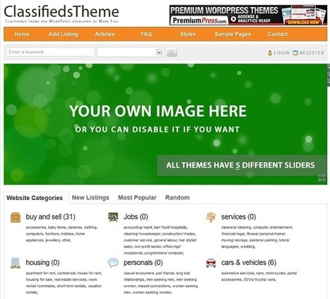 Free Classified Ad Listing Themes For Wordpress | Classifieds ... | lmf free classified | Scoop.it