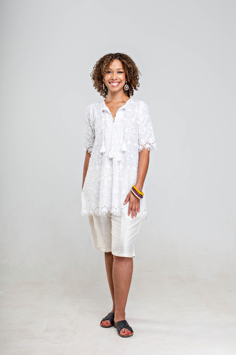 white cotton mix lace top with tassels | 2014 Collection | Scoop.it