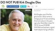 Now Trending: People magazine publishes obituary for actor Kirk Douglas - The Globe and Mail | Middays with Becky Alignay | Scoop.it