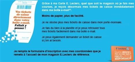E. Leclerc : un email pour remplacer le ticket de caisse papier | Développement, domotique, électronique et geekerie | Scoop.it