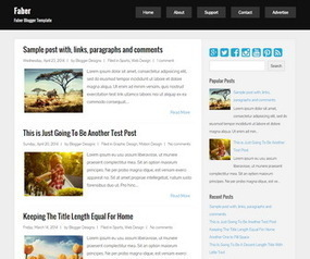Faber Blogger Template | Blogger themes | Scoop.it