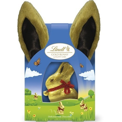 NEW Lindt Gold Bunny & Fluffy Ears Milk 50g - Easter Chocolates - Seasonal Chocolates   recetas   Scoop.it