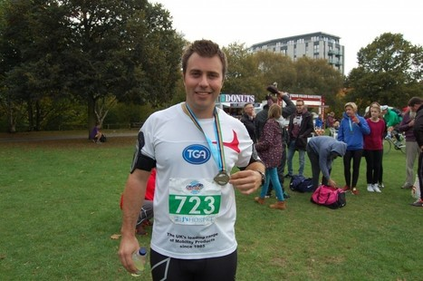 Daniel from Sudbury-based TGA completes first Chelmsford marathon so wheelchair donation to local J's Hospice charity is made possible | Disability and Mobility | Scoop.it