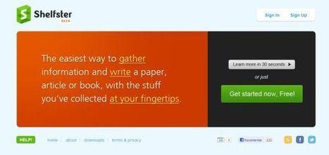Shelfster – recopila los elementos necesarios para redactar tus trabajos | EDUDIARI 2.0 DE jluisbloc | Scoop.it