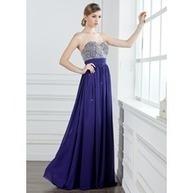 [NOK 898] A-formet/Prinsesse Sweetheart te-lengde Chiffong Ballkjole med Frynse Perlebesydd Paljetter (018004908) | fashion dress | Scoop.it