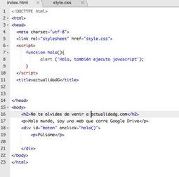 Como crear tu página web utilizando Google Drive como servidor | tecnology | Scoop.it