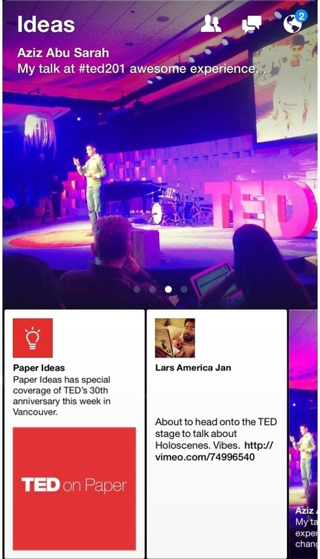 Exclusive Content From TED 2014 To Be Featured In Ideas Section Of Facebook's Paper App | Nonprofit News | Scoop.it