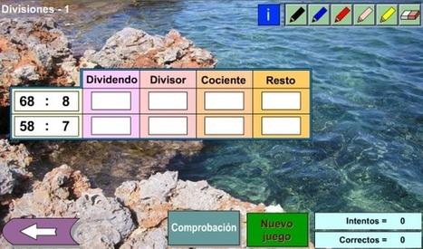 Dividendo, divisor, cociente y resto | Revista GenMagic | Scoop.it