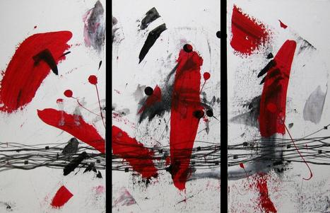 """ Black,Red & White "" by Patricia Quinche 