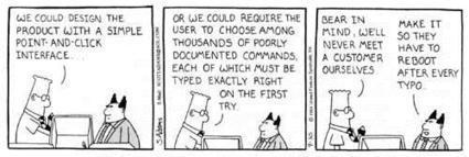 Awesome Dilbert Cartoon on Usability - Usability Lab | SalesForce Information and Resources | Scoop.it