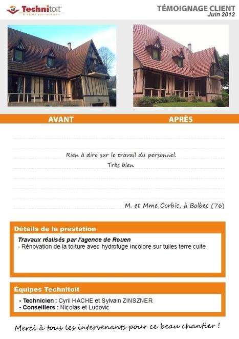 [témoignage] Rénovation de toiture en hydrofuge Technitoit incolore sur tuiles terre cuite à Bolbec (76) | Témoignages Clients Technitoit | Scoop.it