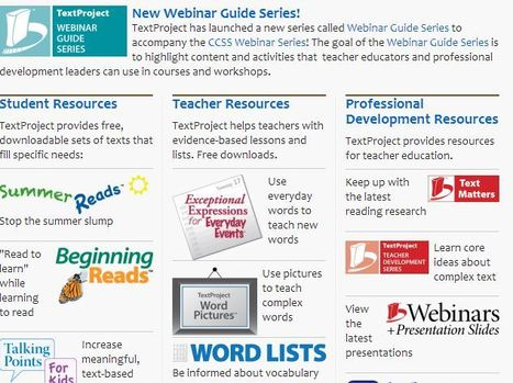 Home » TextProject | K-12 Research, Resources and Professional Learning Materials for English Language Arts | Scoop.it
