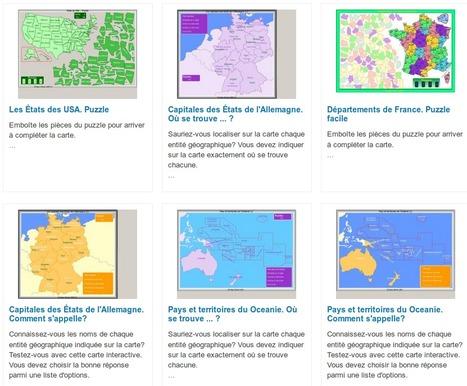 Cartes de géographie interactives - Quizz | Enseignement TICE | Scoop.it