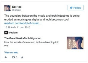 The Great Music-Tech Migration: How The Worlds Of Music And Tech Are Bleeding Into One | MUSIC:ENTER | Scoop.it