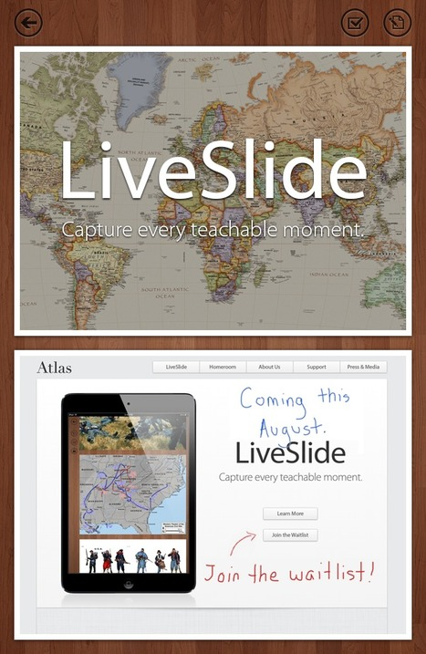 LiveSlide - Capture Every Teachable Moment | Learning21 | Scoop.it