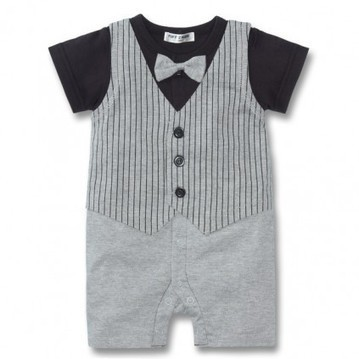 Black and Gray Baby Boy Formal Rompers in Half Sleeves in India | Online Baby Accessories | Scoop.it