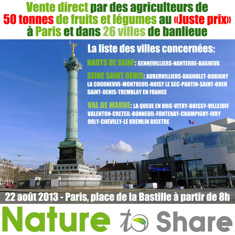 VENTE DIRECT du 22 août: La liste des villes est disponible | RDV Agri, Actu des Professionnels de l'Agriculture. | Scoop.it