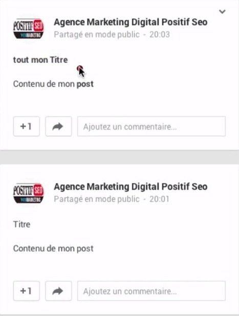 comment créer un titre dans un post Google Plus | Digital Marketing Communication Innovation Social Media | Scoop.it