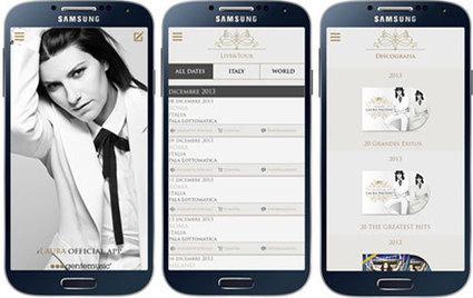 iLaura per Android: l'app ufficiale di Laura Pausini by Cosmobile | Web Mobile Technology | Scoop.it