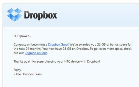 Spazio gratis su Dropbox: ottenere 23 GB in semplici passi | IdeaGeek.it | L'OBOE SOMMERSO | Scoop.it