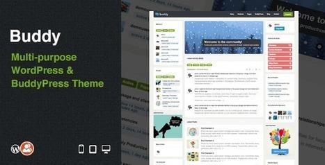 Buddy: Multi-purpose WordPress & BuddyPress Theme - Wordpress Themes | Themes4Free | Scoop.it