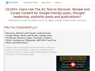 CurationSoft Content Curation Software - MARKETPLACE | Wepyirang | Scoop.it